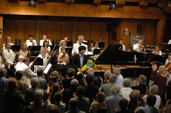 Piano soloist Sean Chen, center, at last year's Sunriver Music Festival.
