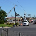 Vehicle accident causes outage