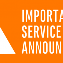 Service Outage Announcement: service restored at 7:02 p.m.