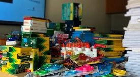 First all-company school supply drive is major success image