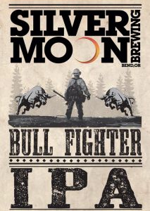 The label for Silver Moon's Bull Fighter IPA.
