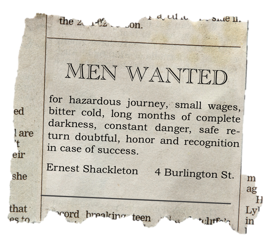 Sample newspaper job ads